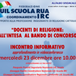 UIL SCUOLA RUA: Incontro informativo docenti di religione