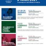 ORIENTAMENTO IN USCITA: Università di Pavia - INCONTRI D'AREA 2021