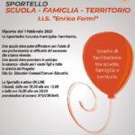 Inizio attività Sportello Scuola-Famiglia-Territorio azione Progetto Edu.Co